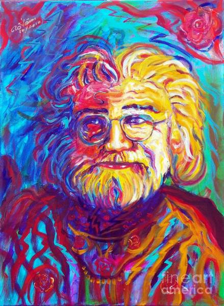 Modal Jazz Wall Art - Painting - Jerry Garcia 1 by To-Tam Gerwe