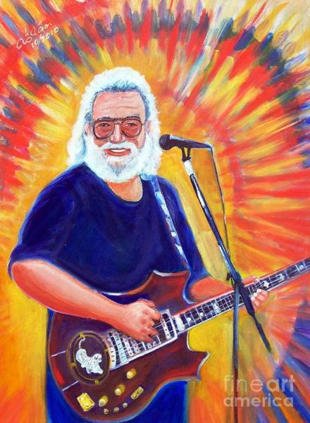 Modal Jazz Wall Art - Painting - Jerry Garcia 2 by To-Tam Gerwe