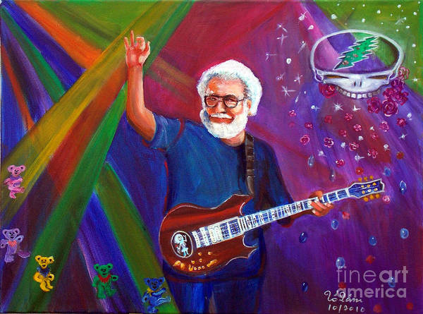 Modal Jazz Wall Art - Painting - Jerry Garcia 3 by To-Tam Gerwe