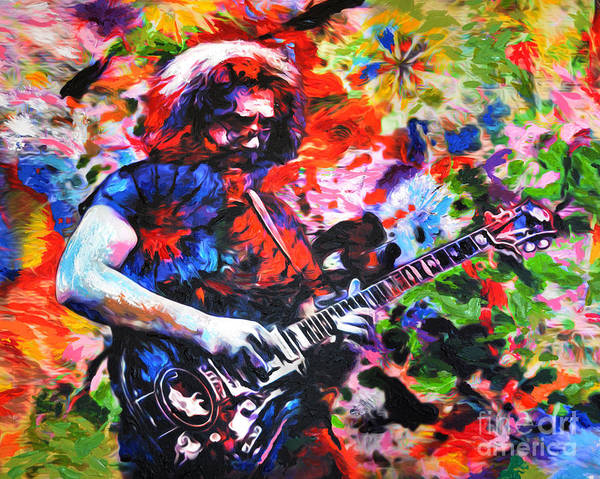 Deadhead Wall Art - Painting - Jerry Garcia - Grateful Dead - Original Painting Print by Ryan Rock Artist