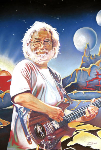 Wall Art - Drawing - Jerry Garcia Live At The Mars Hotel by Joshua Morton