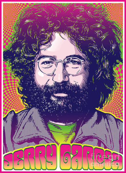 60s Digital Art - Jerry Garcia Pop Art by Jim Zahniser