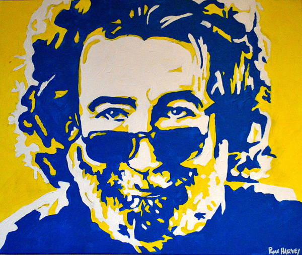 Deadhead Wall Art - Painting - Jerry Garcia by Ryan Harvey