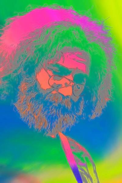 Wall Art - Digital Art - Jerry Garcia Tie Dye by Dan Sproul