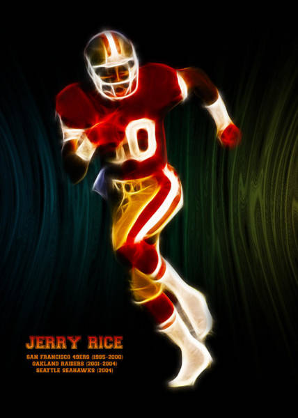 Rice Wall Art - Digital Art - Jerry Rice by Aged Pixel