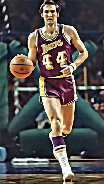 Wall Art - Painting - Jerry West by Florian Rodarte