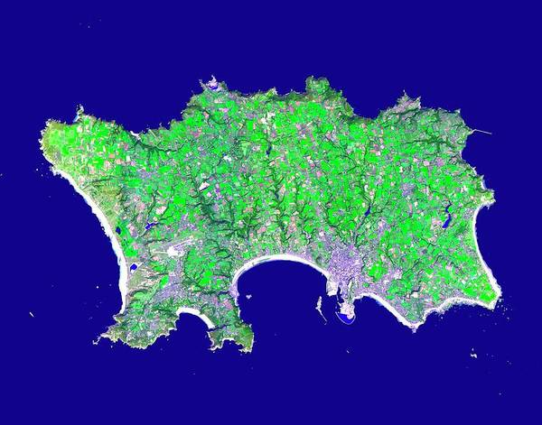 Channel Isles Photograph - Jersey by Nasa/gsfc/meti/ersdac/jaros, And U.s./japan Aster Science Team