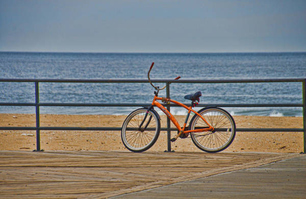Photograph - Jersey Shore Bicycle by Beth Sawickie