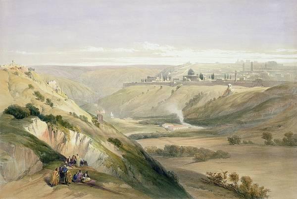 The City Drawing - Jerusalem, April 5th 1839, Plate 18 by David Roberts