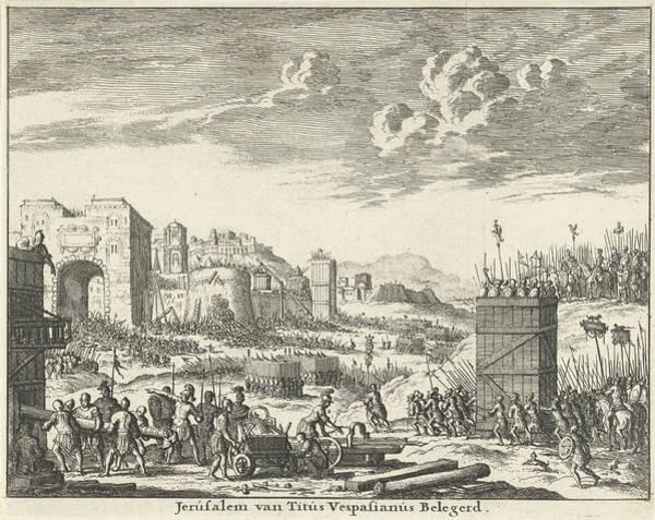 Wall Art - Drawing - Jerusalem Besieged By Titus Variant A, Jan Luyken by Quint Lox