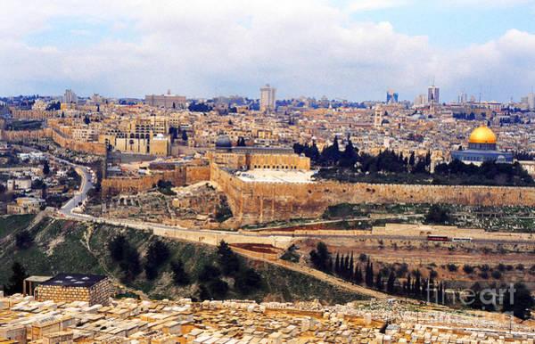 Cemetery Photograph - Jerusalem From Mount Olive by Thomas R Fletcher