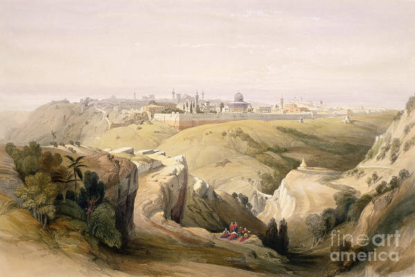 Dome Painting - Jerusalem From The Mount Of Olives by David Roberts