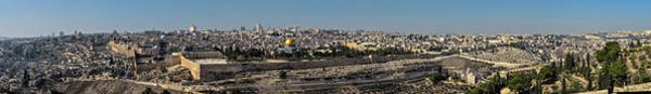 Jerusalem Photograph - Jerusalem Old City Panorama by Ilan Shacham
