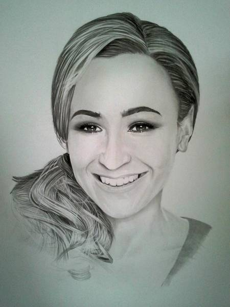 Gold Medal Drawing - Jessica Ennis by Colin Prideaux