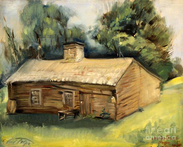Jesse James Home 1940 Art Print