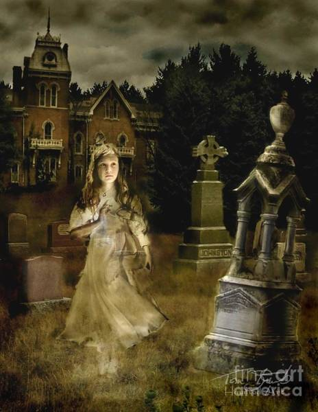 Grave Yard Photograph - Jessica by Tom Straub