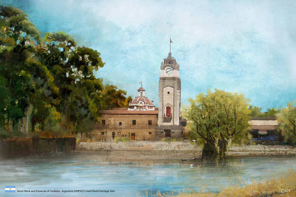 Wall Art - Painting - Jesuit Block And Estancias Of Cordoba by Catf