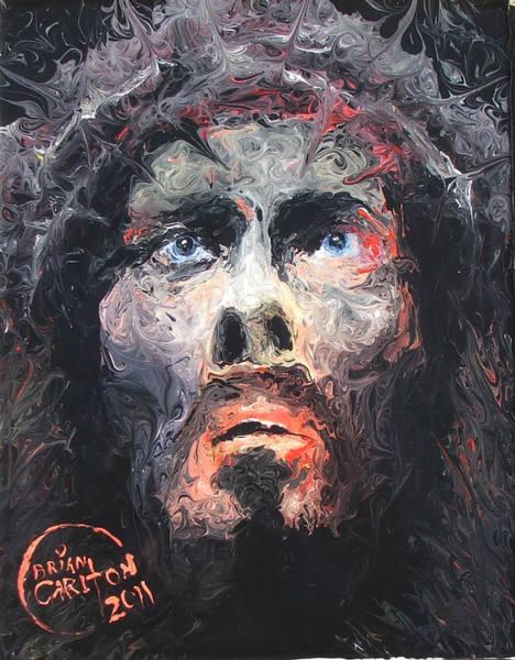 Penetrate Painting - Jesus 002 by Brian Carlton