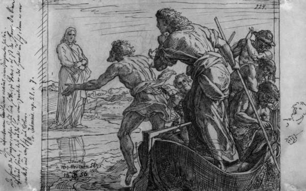 Wall Art - Drawing - Jesus And Disciples by Granger