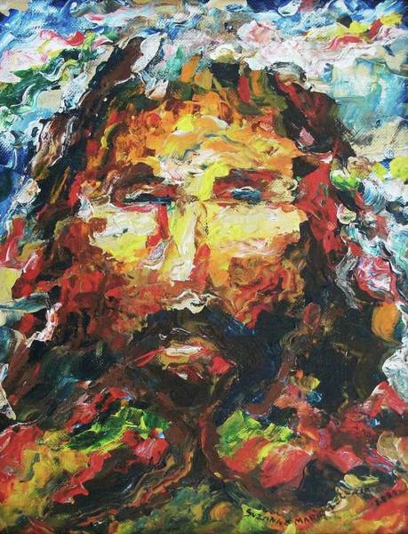 Leclair Painting - Jesus Are You There by Suzanne  Marie Leclair