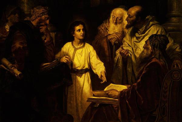 Jesus At Temple Art Print