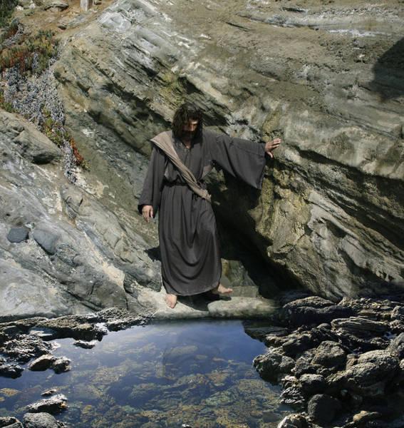 Jesus At The Pond Art Print