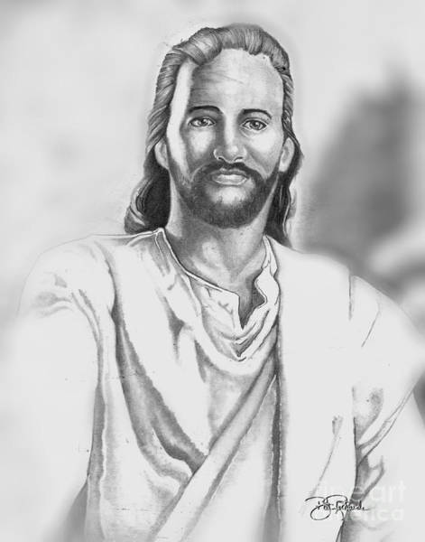 Drawing - Jesus by Bill Richards