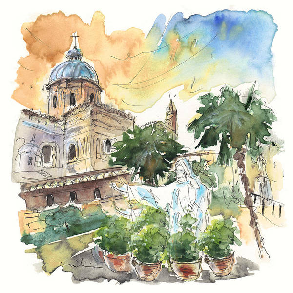 Painting - Jesus By Palermo Cathedral by Miki De Goodaboom