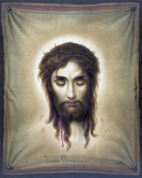 Wall Art - Photograph - Jesus Christus - Veronicas Veil - 1876 by Daniel Hagerman