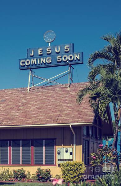 Photograph - Jesus Coming Soon Church Maui Hawai by Edward Fielding