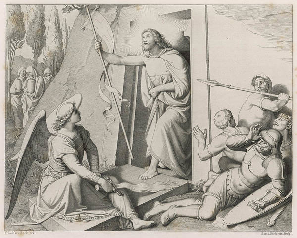 Wall Art - Drawing - Jesus Emerges From The Tomb,  Whose by Mary Evans Picture Library