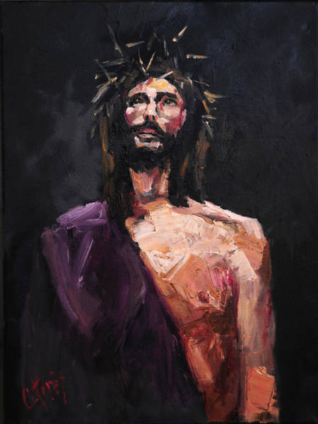 Wall Art - Painting - Jesus Facing Pilate by Carole Foret