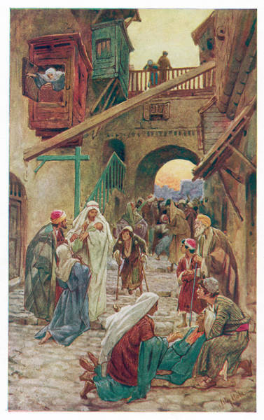 Healing Drawing - Jesus Heals At Capernaum, On  The Sea by Mary Evans Picture Library