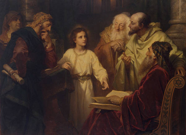My Son Painting - Jesus In The Temple by Heinrich Hoffmann