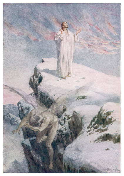 The Specials Drawing - Jesus, In The Wilderness, Is  Tempted by Mary Evans Picture Library