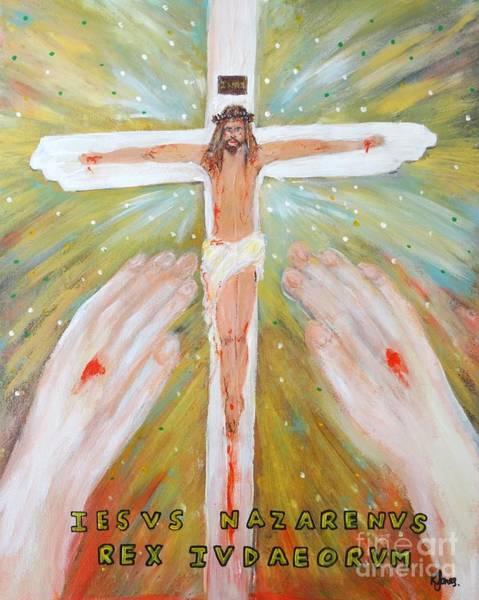 Painting - Jesus - King Of The Jews by Karen Jane Jones