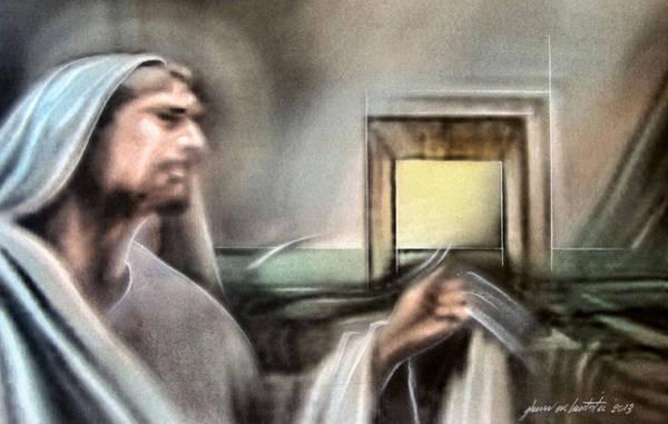 Mixed Media - Jesus - Knocking 2013 by Glenn Bautista