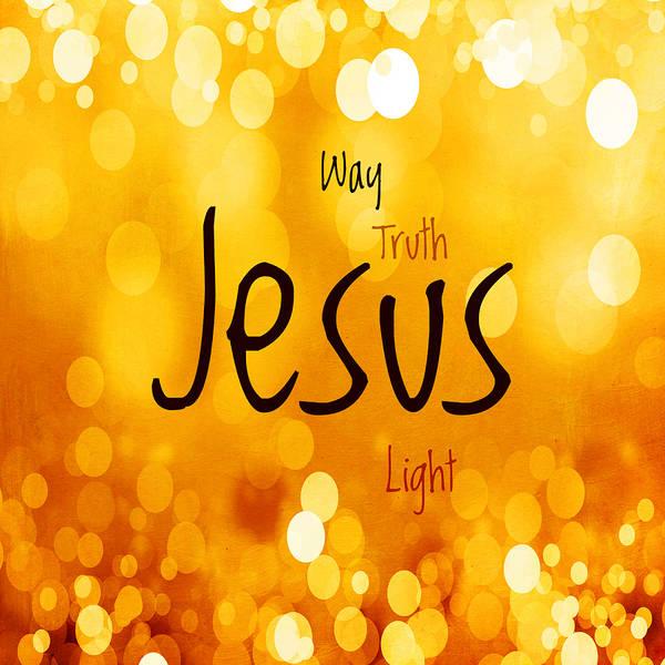 Lamb Of God Wall Art - Mixed Media - Jesus Light 1 by Angelina Tamez