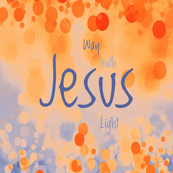 Lamb Of God Wall Art - Mixed Media - Jesus Light 2 by Angelina Tamez