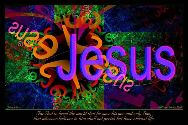 Digital Art - Jesus by Missy Gainer