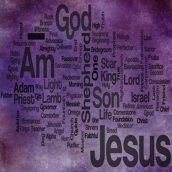 Lamb Of God Wall Art - Mixed Media - Jesus Name 2 by Angelina Tamez