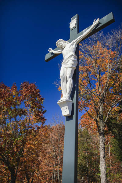 Sacred Heart Photograph - Jesus On The Cross by Adam Romanowicz