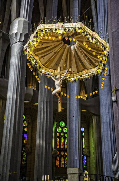 Wall Art - Photograph - Jesus On The Cross - Sagrada Familia Church - Barcelona by Madeline Ellis