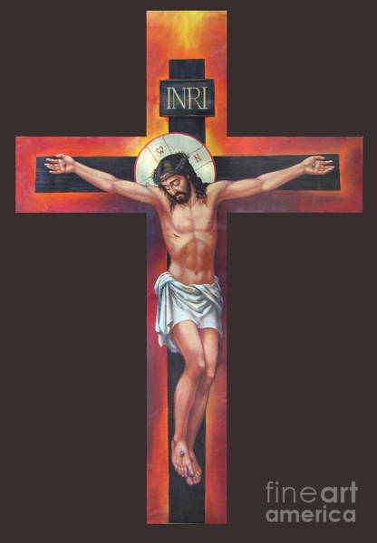 Crucifixion Digital Art - Jesus On The Cross by MGL Meiklejohn Graphics Licensing