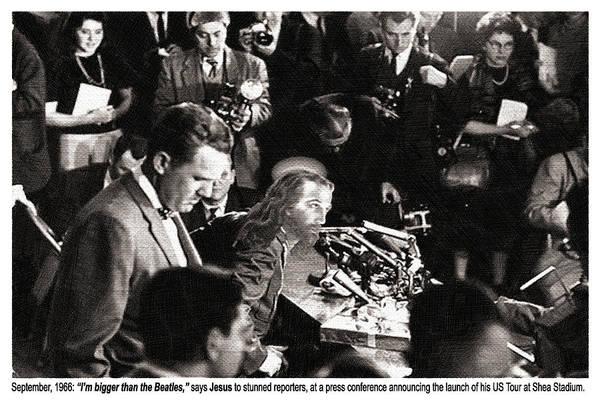 Painting - Jesus Press Conference 1966 by Tony Rubino
