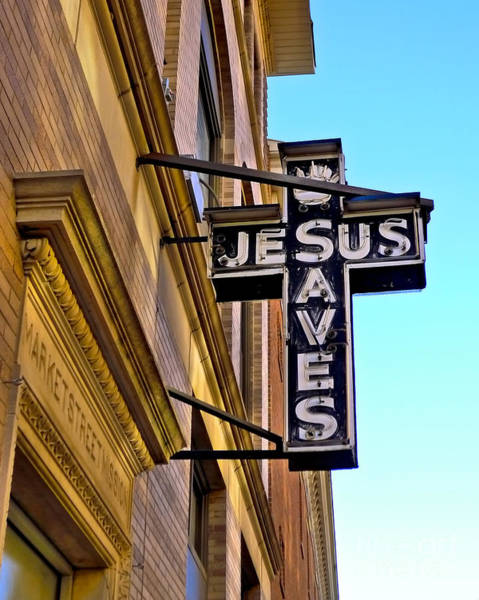 Photograph - Jesus Saves by Mark Miller