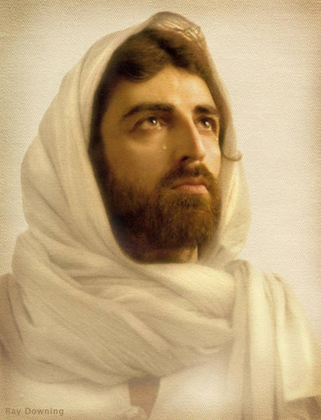 Jesus Wall Art - Digital Art - Jesus Wept by Ray Downing
