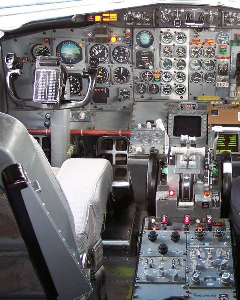 Wall Art - Photograph - Jet Cockpit by Thomas Woolworth