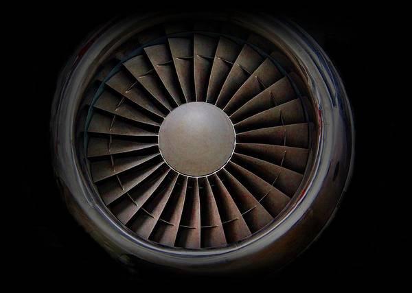 Cockpit Digital Art - Jet Engine Digital Art Print by Movie Poster Prints