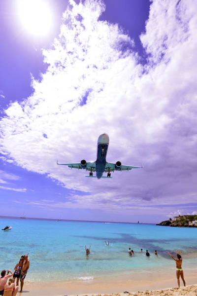 Photograph - Jet Landing In The Caribbean by Matt Swinden